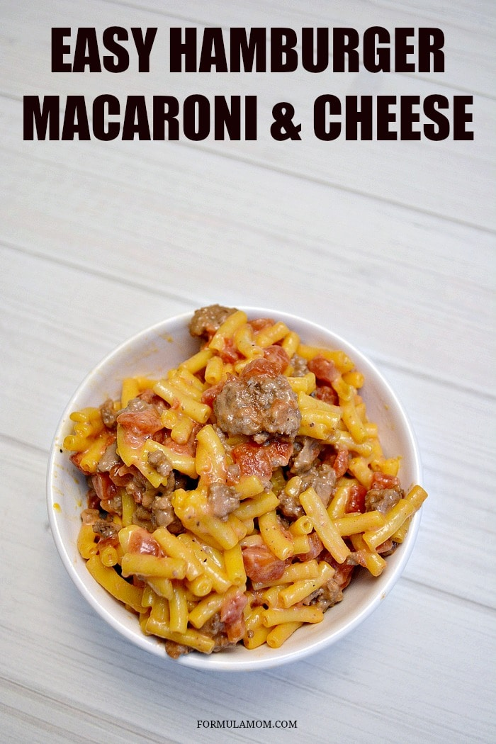 Easy Hamburger Macaroni and Cheese Recipe is a great family friendly dinner idea!