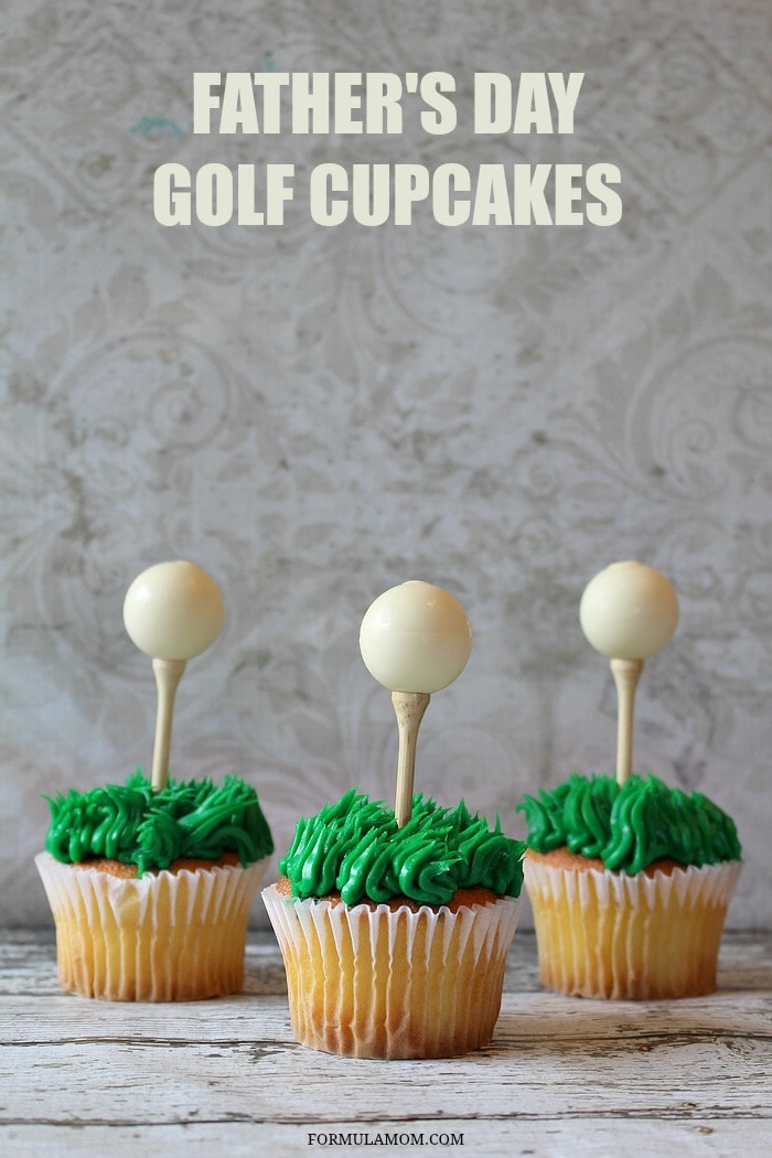 make easy golf cupcakes for father 39 s day fathersday. Black Bedroom Furniture Sets. Home Design Ideas