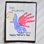 Handprint Fathers Day Card (with printable!)