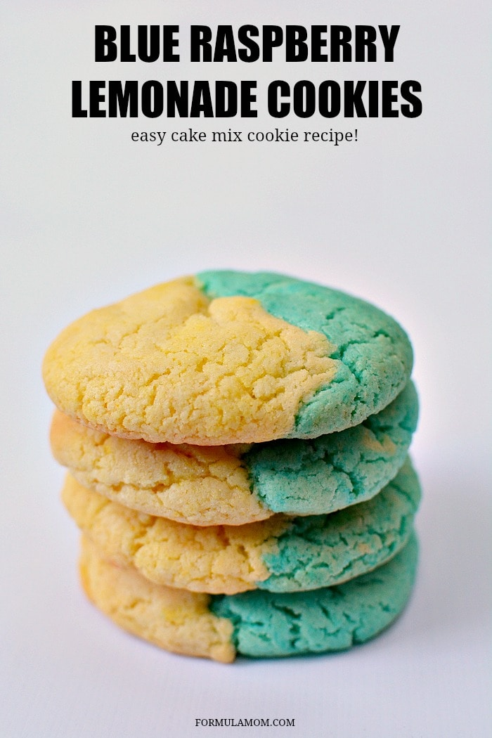 Make these easy Blue Raspberry Lemonade cookies with your kids or for your next party! This easy cookie recipe makes a batch of delicious cake mix cookies.