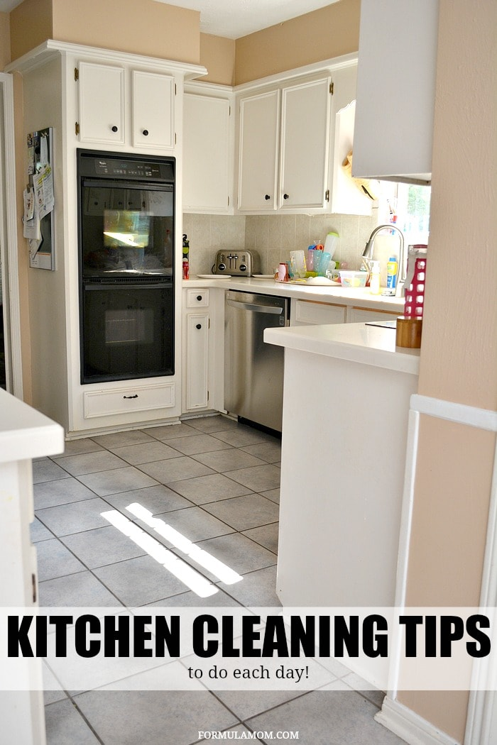Kitchen Cleaning Tips To Do Each Day Ad