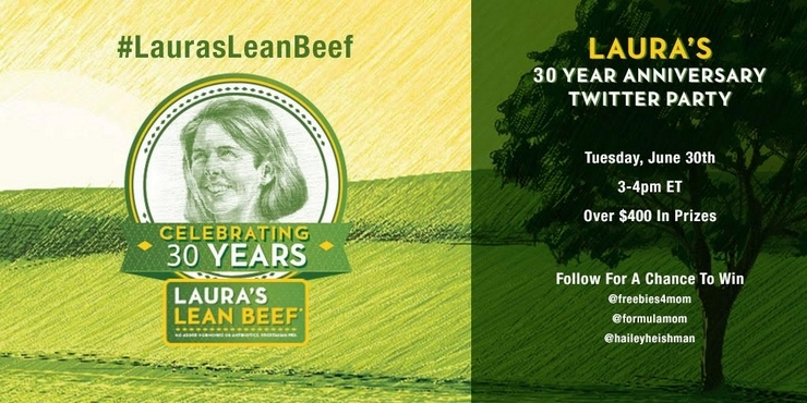 Join the #LaurasLeanBeef Twitter Party 6/30