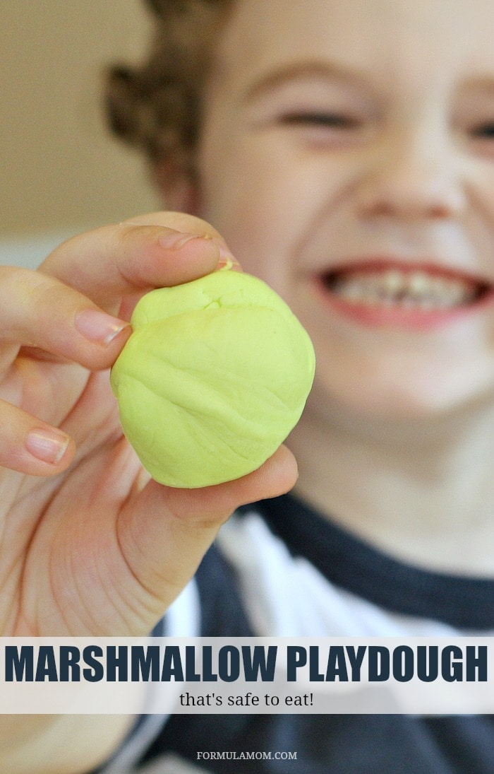 Looking for fun hands on activities for kids? Make your own marshmallow playdough! This playdough recipe only needs a few ingredients and it's safe if the kids decide they need to try a bite!