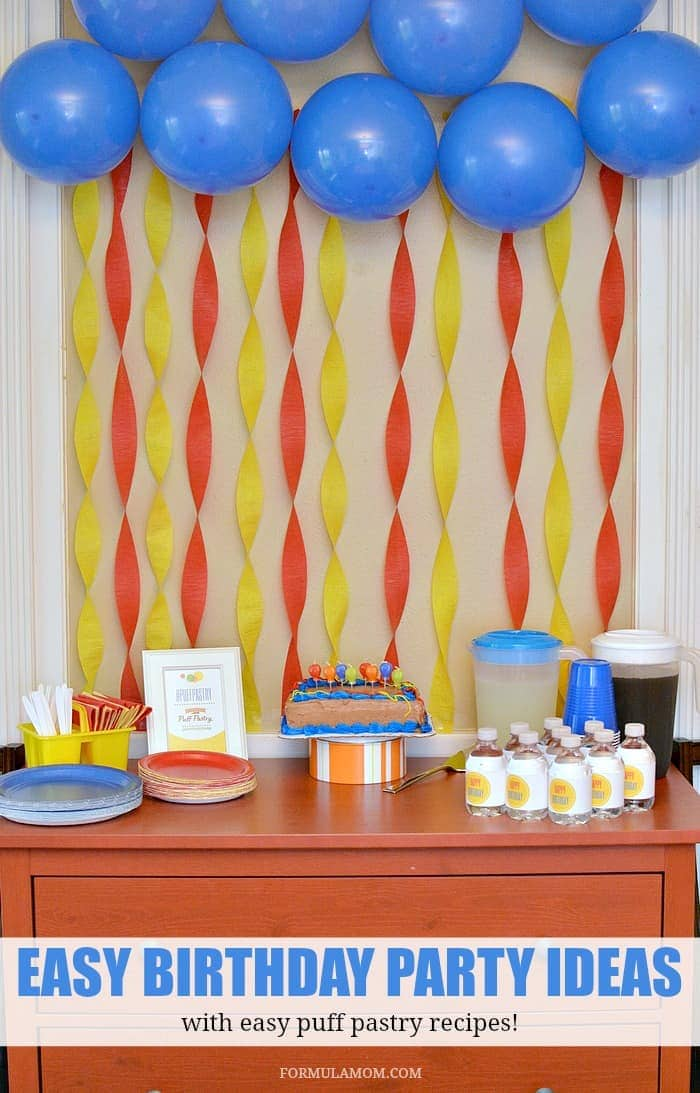 Puff pastry party ideas for birthdays puffpastry ad for B day party decoration ideas