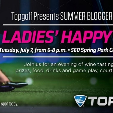 Join me on Tuesday, July 7th from 6-8pm for Ladies Happy Hour at Topgolf Spring!