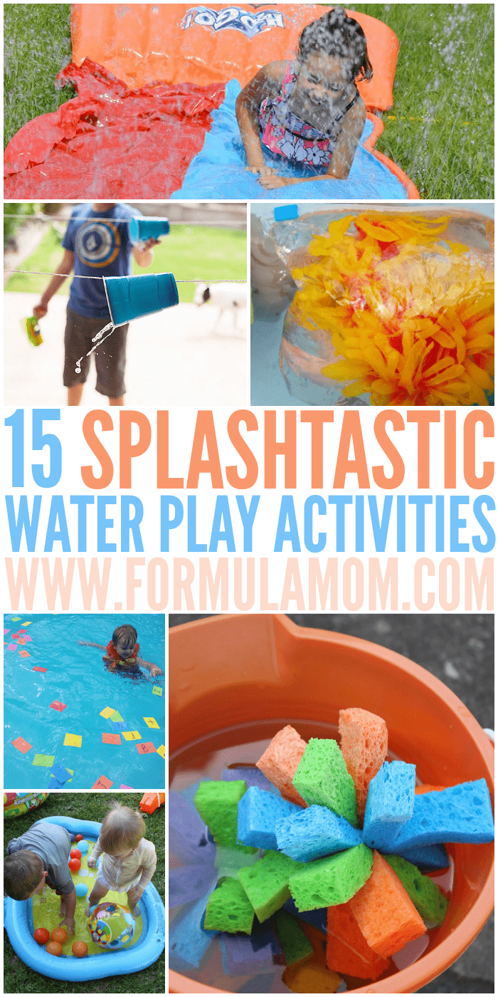 Stay cool this summer with these splashtastic water play activities for kids! These are great summer bucket list activities for the whole family! Get out and make some new memories together while staying cool!