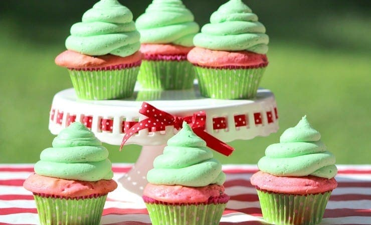Make Watermelon Cupcakes