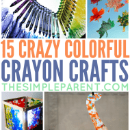 Check out these Crayon Crafts to make! You can do so much more than just color with crayons! There are crayon crafts for kids and crayon crafts for adults!