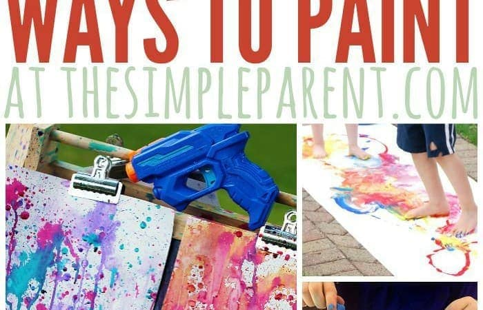 20 Wacky Ways to Paint with Kids