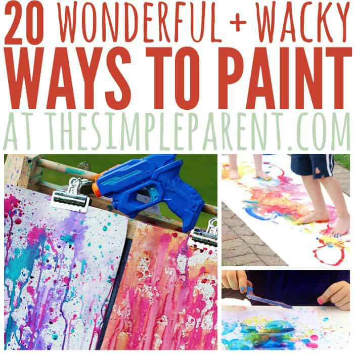 Painting is one of the best ways to help kids explore their creativity in a hands on way! Check out these different ways to paint and change  up the next art project you do with your kids! Hands on kids activities are a fun way for them to create and learn!