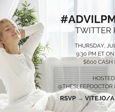 Join the #AdvilPMSleep Twitter chat on 7/16!