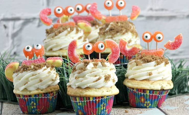 How to Make Candy Crab Cupcakes