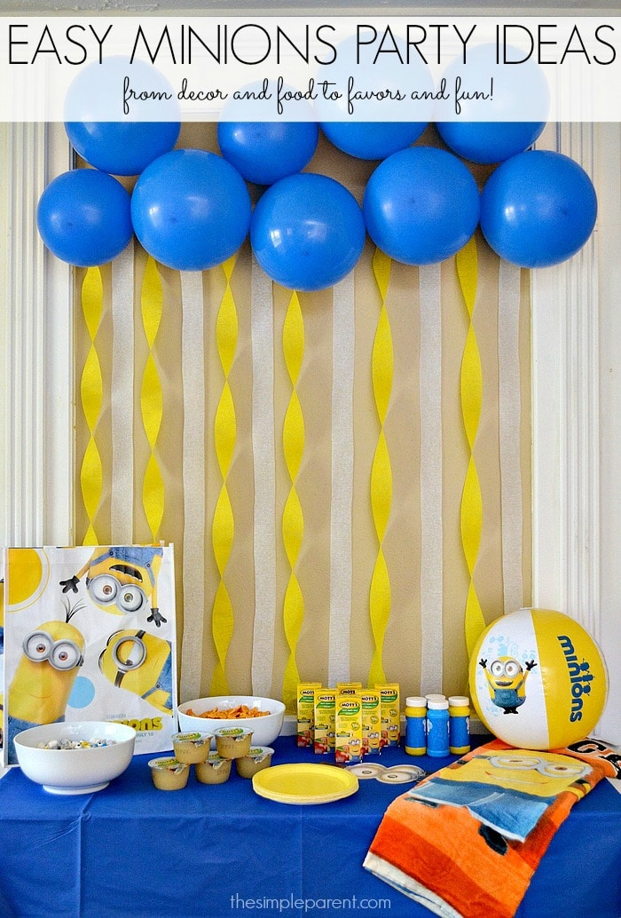Celebrate with easy minions party ideas