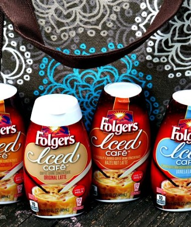 Take Folgers Iced Coffee concentrates in your lunch bag!