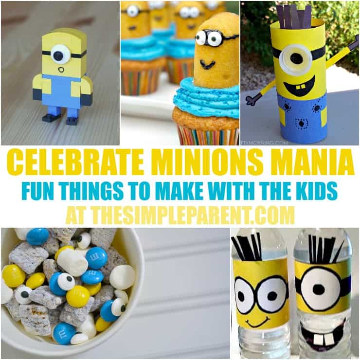 Celebrate the new Minions movie with fun Minions crafts, recipes, and activities! These family friendly activities are fun for all ages! Perfect for Despicable Me or Minions parties and playdates!