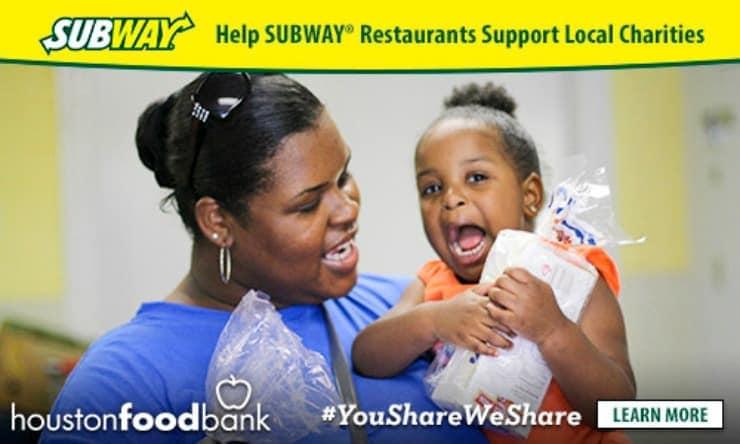 "SUBWAY ® Restaurants ""You Share. We Share."""