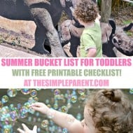 Summer Bucket List for Toddlers (with Free Printable)