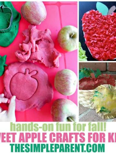 Celebrate back to school and all things fall with these sweet apple crafts for kids! Activities for kids of all ages including apple crafts for toddles, this is a fun way to transition from summer to fall!