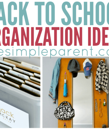 Make this school year more productive with Back to School Organization ideas! These home organization ideas will help everyone in the family be more prepared this school year!