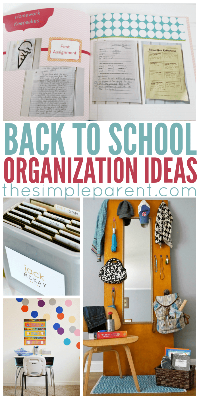 Back to school organization ideas - Back to school organization ...