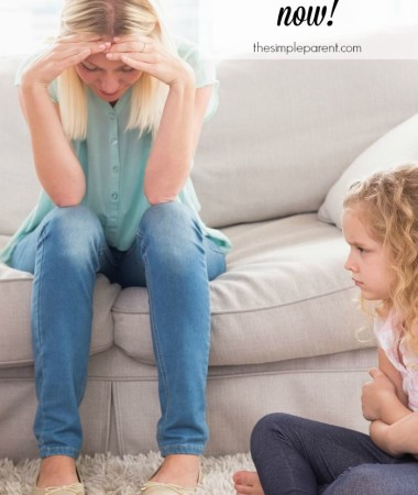 Be a calmer parent now! These five easy things will help you parent with less anger! Easy parenting tips for all ages!