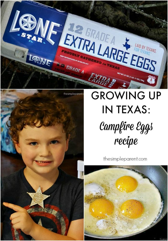 Growing Up in Texas is about pride and adventure! Gorgeous hill country full of camping opportunies make amazing memories! Check out this Campfire Eggs recipe for your next camping trip!