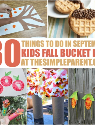 Fun doesn't have to stop once fall arrives! We've got the latest addition to our kids bucket list -- 30 Things to Do in September!