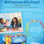Join the #Kleenex4School Twitter Party on 8/11
