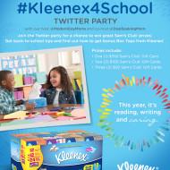 Join the #Kleenex4School Twitter Party on 8/11