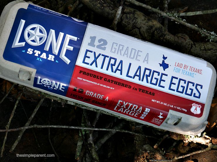 Lone Star eggs found only at Wal Mart