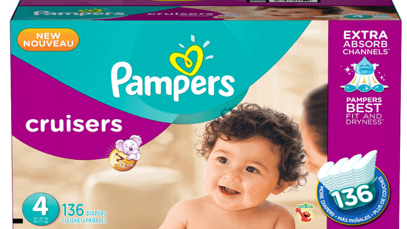 "Pampers Cruisers available at Babies ""R"" Us"