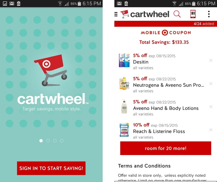Use Target's Cartwheel App for an easy way to save on back to school shopping!