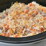 Slow Cooker Cheeseburger Casserole