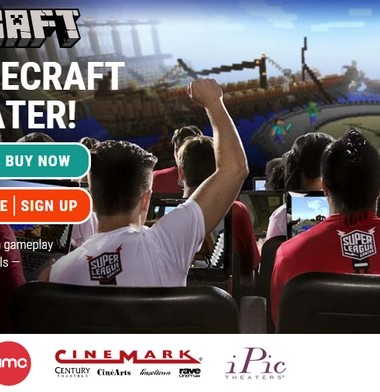 Play Minecraft on the big screen at local Houston movie theaters with Super League Gaming!