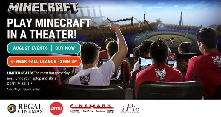 Play Minecraft in a Movie Theater with Super League!