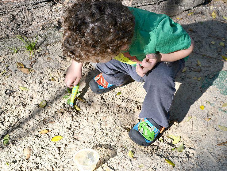 Weston digging in the dirt!