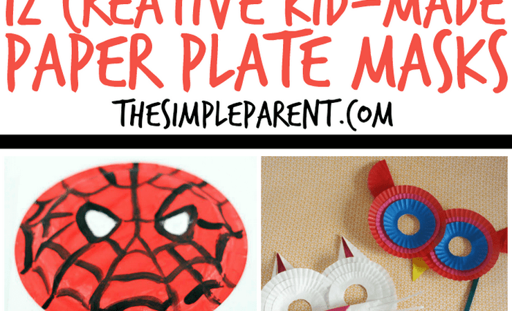 Creative Paper Plate Masks Kids Can Make