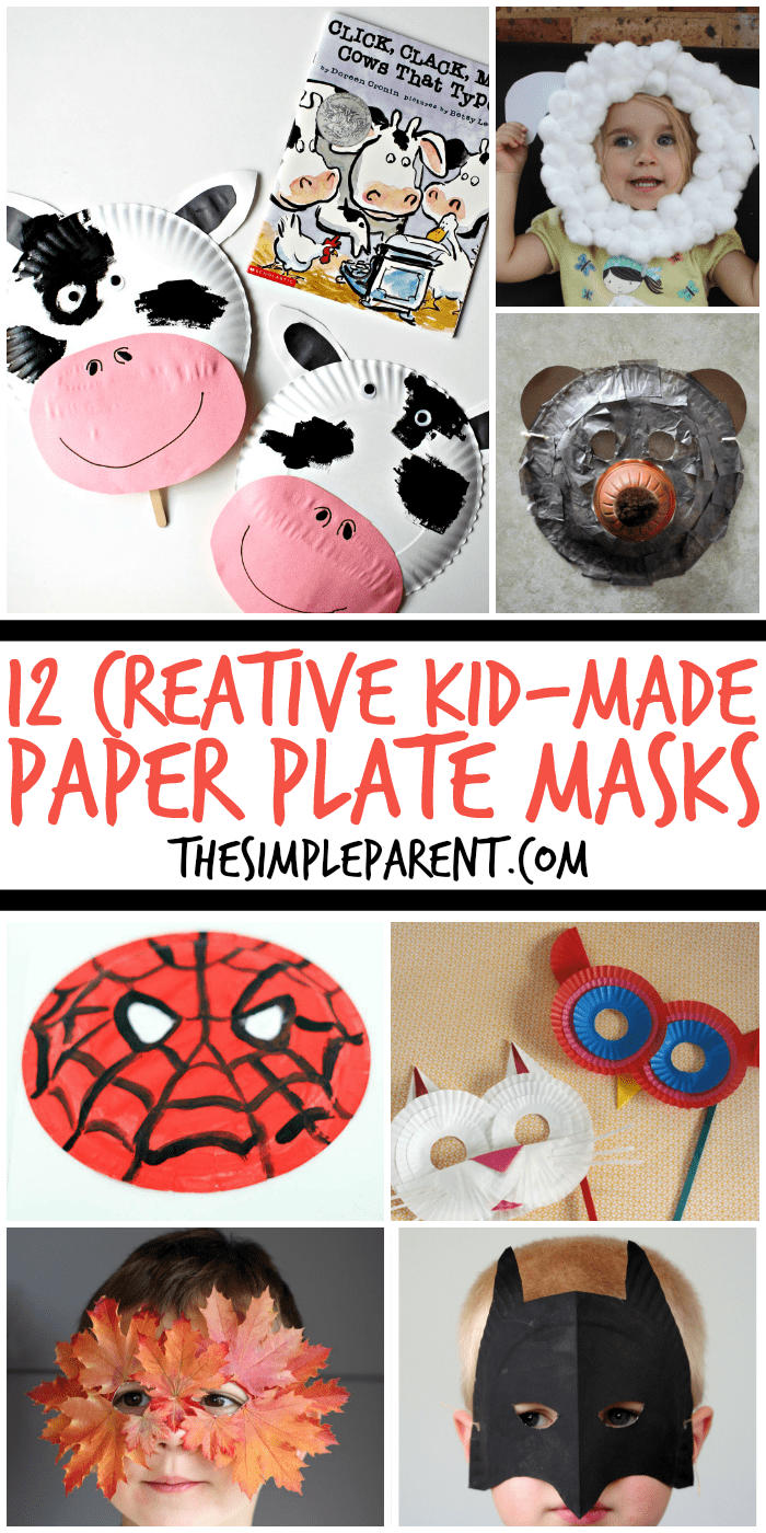 Have fun this Halloween (or any time of year) with these fun and creative Paper Plate Masks that your kids can make! Paper plate crafts are a blast to make and so easy too!