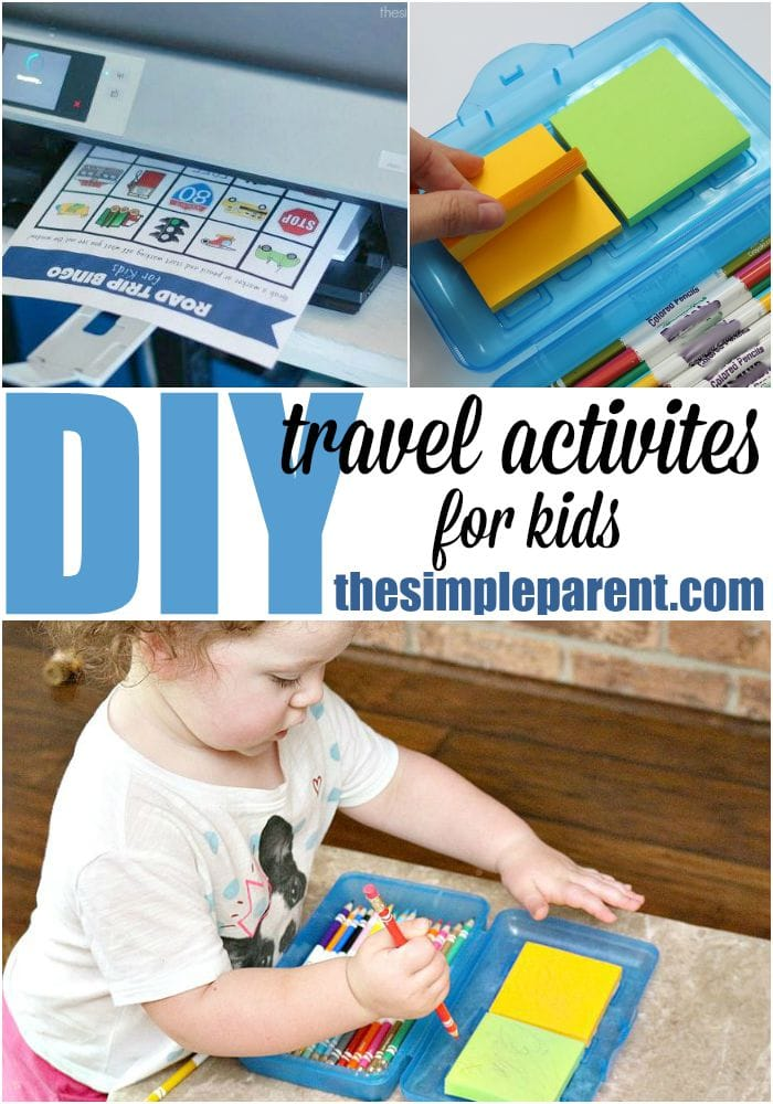 DIY travel activities are a great way to keep things in the car for your kids to do whenever you're on the road!