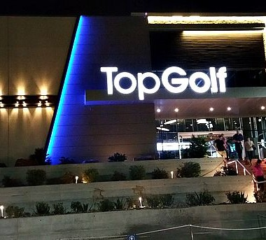 Topgolf Spring is a great location in Spring, Texas near The Woodlands, Texas for a couples date night!