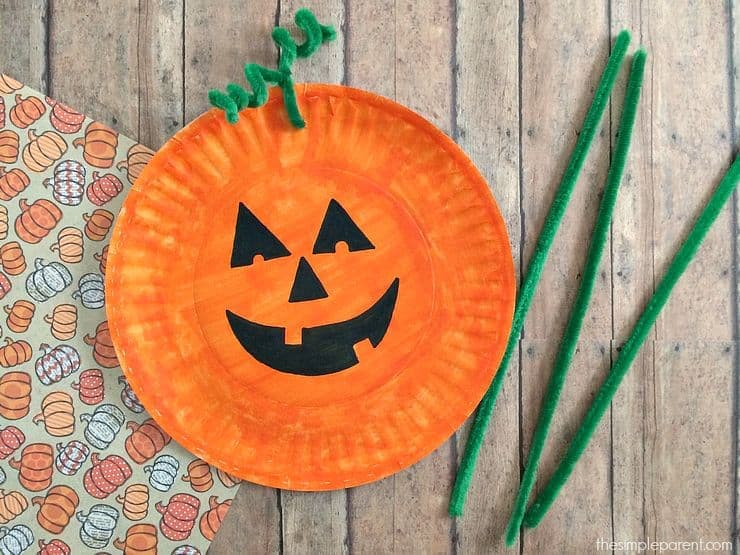 pumpkin crafts for toddlers easiest paper plate pumpkin craft the simple parent 5298
