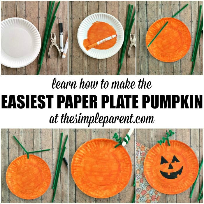 Pumpkin Craft Ideas For Kids Part - 23: Learn How To Make The Easiest Paper Plate Pumpkin Craft Ever! You Probably  Have Most