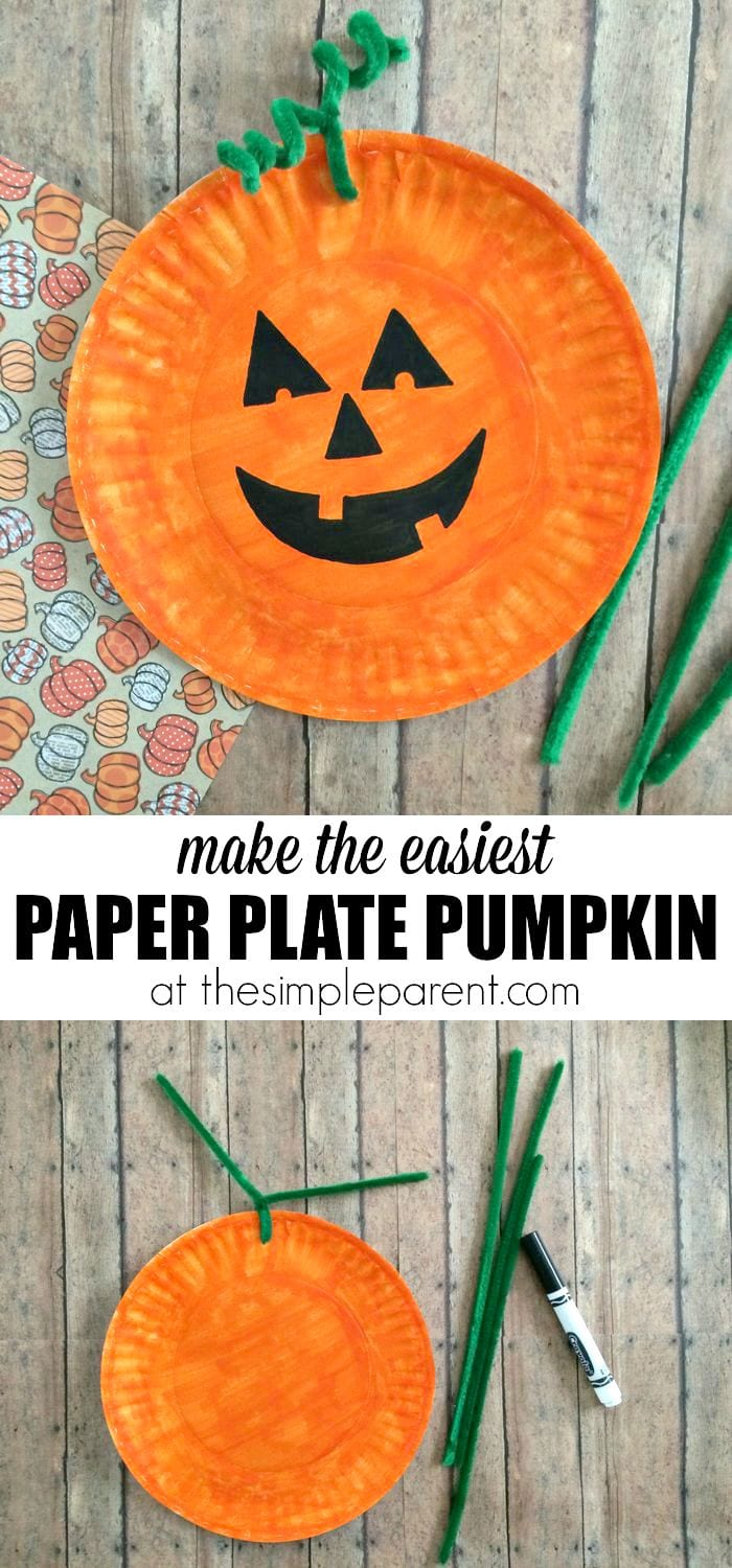 Learn How To Make The Easiest Paper Plate Pumpkin Craft Ever You Probably Have Most