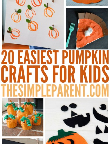Get festive this fall with some of the Easiest Pumpkin Crafts for kids! Celebrate fall fun and Halloween festivities!