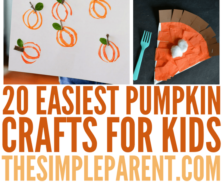 Awesome Pumpkin Craft Ideas For Kids Part - 13: Easiest Pumpkin Crafts For Kids