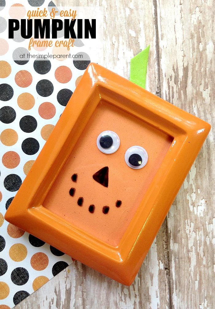 This easy Pumpkin craft is perfect for fall and Halloween decorating ideas! It's made with materials from the dollar section of the craft store too!