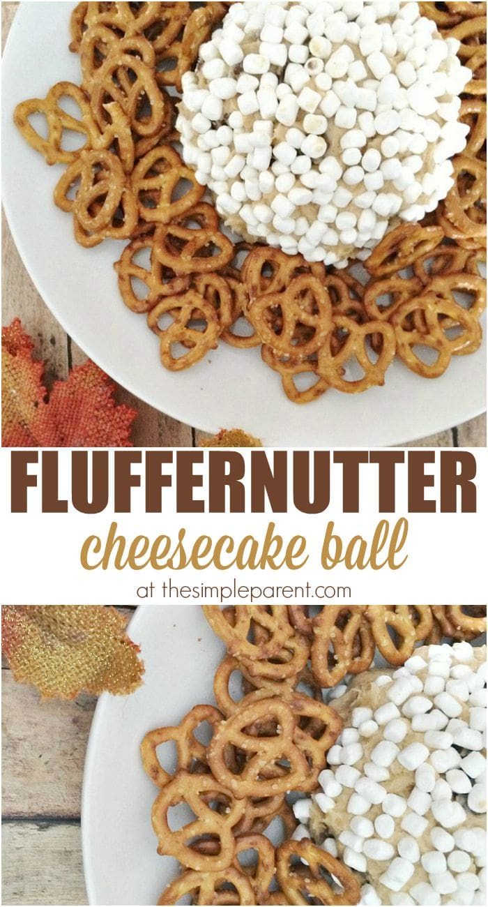 This Fluffernutter Cheesecake Ball is perfect for any entertaining you might be doing! Easy fluffernutter recipes are perfect for holidays, game day, or just a tasty treat! Be sure to try this one out!