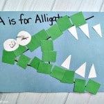 Letter of the Week Crafts: A is for Alligator