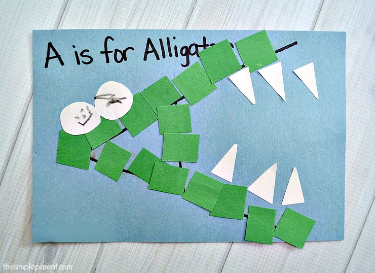 letter of the week crafts a is for alligator