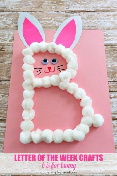 Preschool Letter B Craft: B is for Bunny (Great for Easter too!)